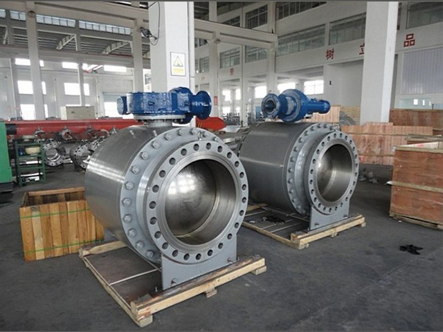 Trunnion ball valve large size forged steel
