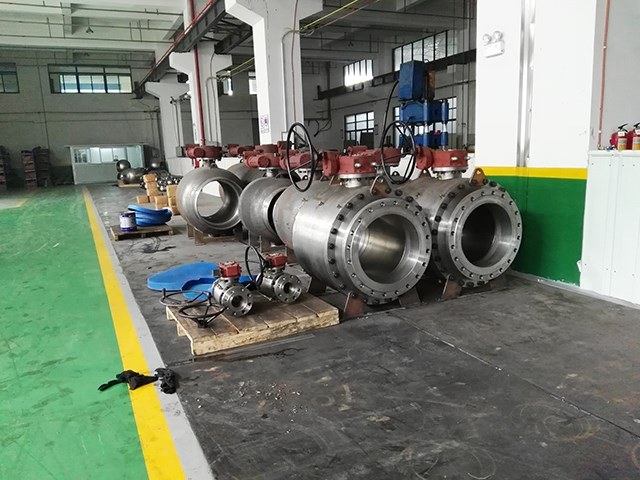 Large Size Forged Steel Trunnion Ball Valve